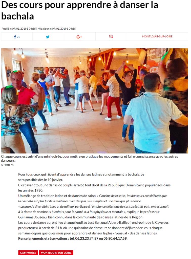 La presse en parle : articles et interviews sur la Bachata à Tours 2